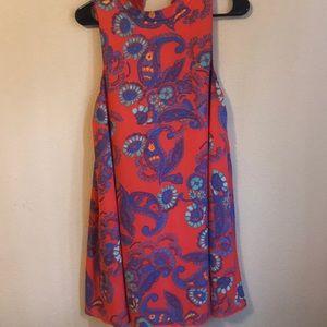 Flowered Orange dress